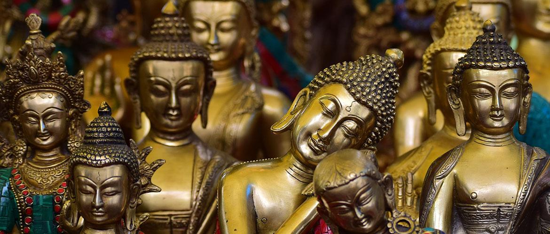 Goldene-Buddhas-Indien-Schmuckkunst