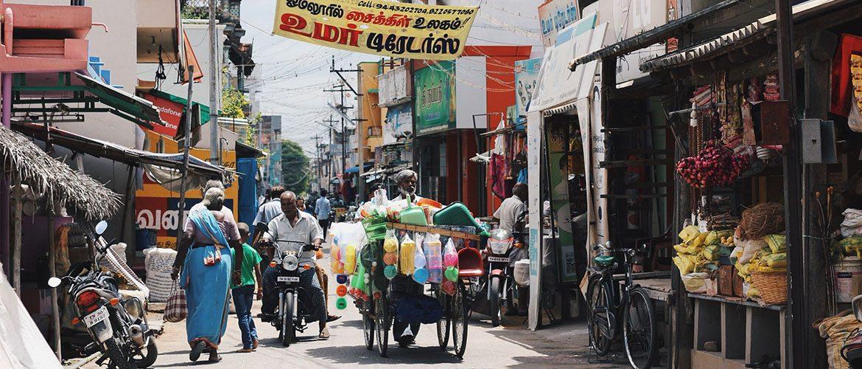 Indien Strassenbild Wirtschaft