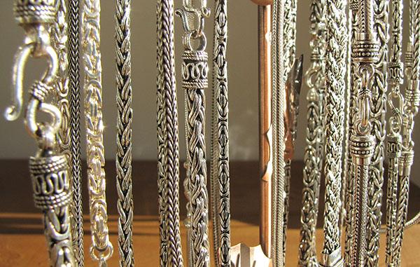 Königsketten, Silberketten - Indien-Schmuckkunst