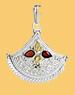 Silberanhaenger der Serie Mogul - Anhänger mit mehreren Edelsteinen